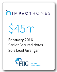 Impact homes - $45 million Senior Secured Notes