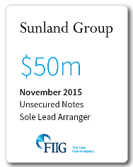 Sunland Group - $50 Million Unsecured Notes