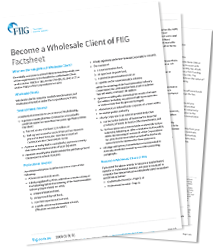 Become a Wholesale Client of FIIG Factsheet - PDF download