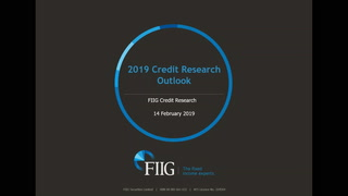 2019 Credit Outlook by FIIG Credit Research