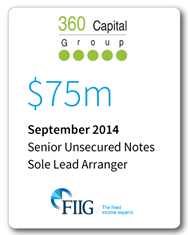 360 Capital - $75 Million Senior Unsecured Notes